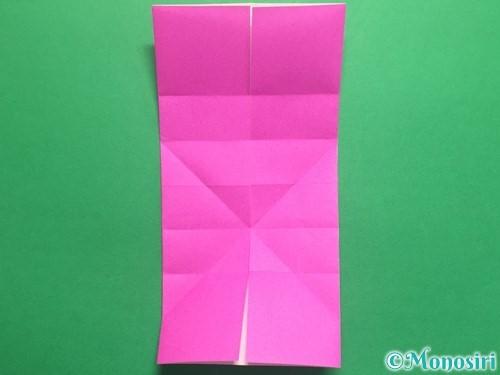 折り紙で立体的なハートの折り方手順14