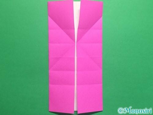 折り紙で立体的なハートの折り方手順15