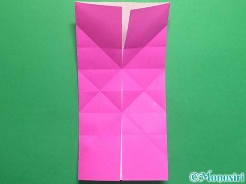 折り紙で立体的なハートの折り方手順18