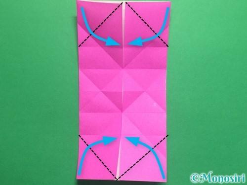折り紙で立体的なハートの折り方手順19