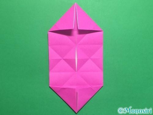 折り紙で立体的なハートの折り方手順20