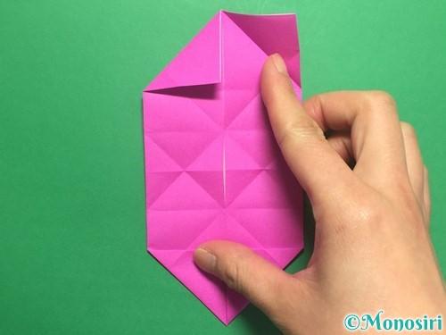 折り紙で立体的なハートの折り方手順21