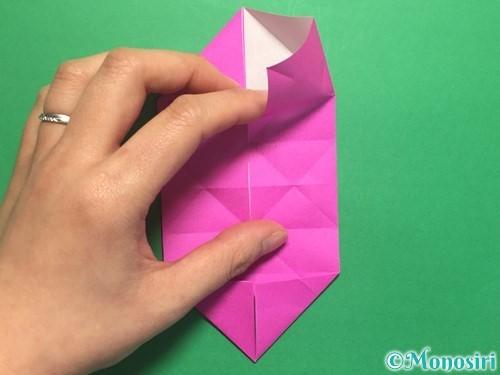 折り紙で立体的なハートの折り方手順22