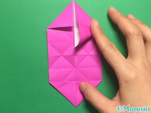 折り紙で立体的なハートの折り方手順23