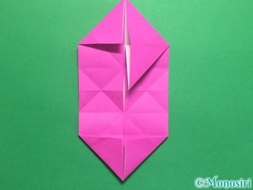 折り紙で立体的なハートの折り方手順24