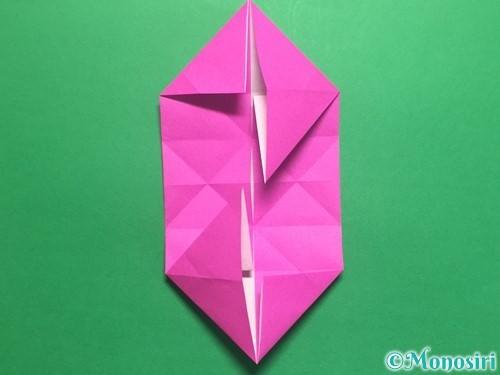 折り紙で立体的なハートの折り方手順25