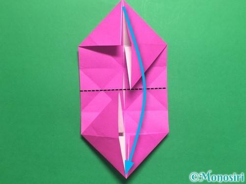 折り紙で立体的なハートの折り方手順26