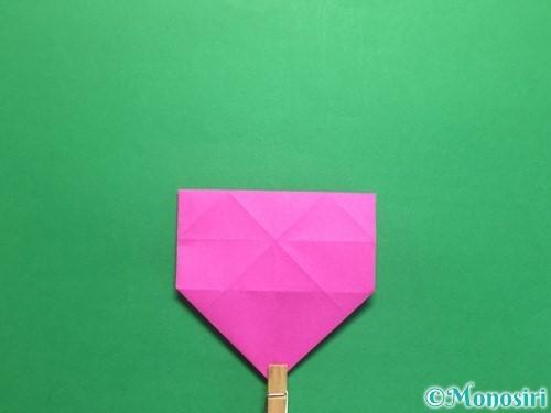 折り紙で立体的なハートの折り方手順27