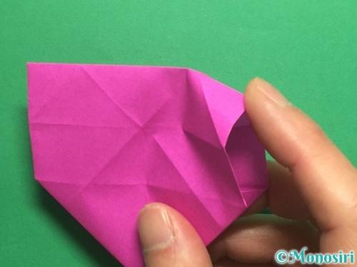 折り紙で立体的なハートの折り方手順29
