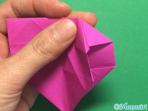 折り紙で立体的なハートの折り方手順30