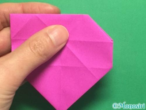 折り紙で立体的なハートの折り方手順31