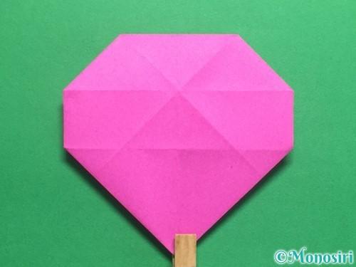 折り紙で立体的なハートの折り方手順32