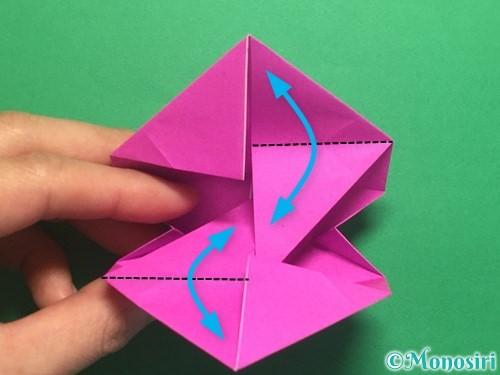 折り紙で立体的なハートの折り方手順37
