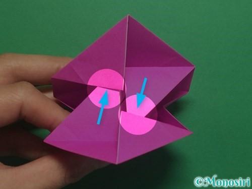 折り紙で立体的なハートの折り方手順39