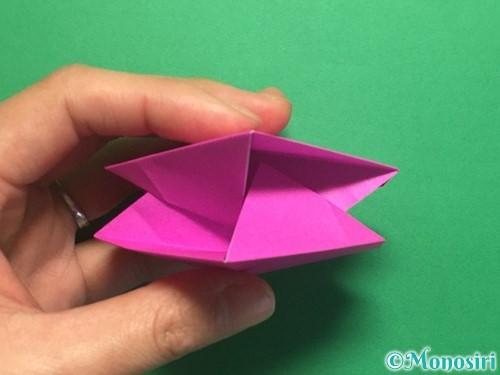 折り紙で立体的なハートの折り方手順40