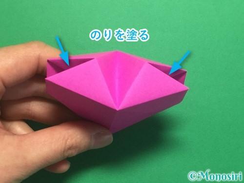 折り紙で立体的なハートの折り方手順42