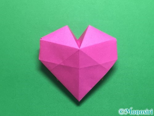 折り紙で立体的なハートの折り方手順43