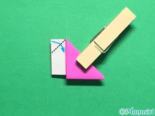 折り紙でハートのこんぺいとうの作り方手順17