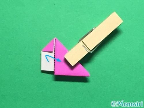 折り紙でハートのこんぺいとうの作り方手順19