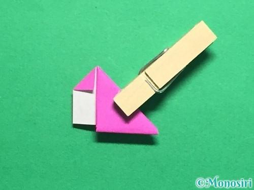 折り紙でハートのこんぺいとうの作り方手順18