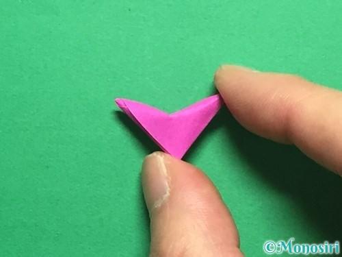 折り紙でハートのこんぺいとうの作り方手順23