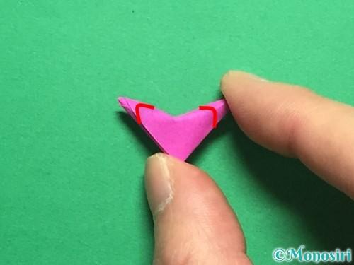 折り紙でハートのこんぺいとうの作り方手順25