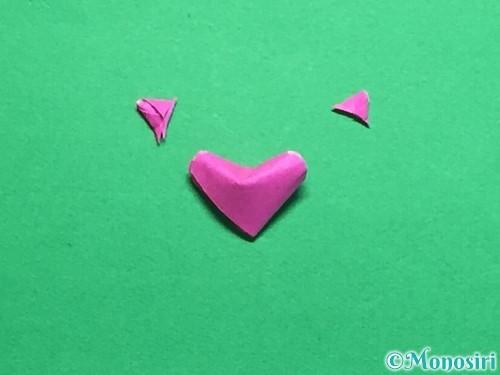 折り紙でハートのこんぺいとうの作り方手順26