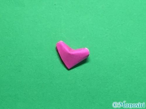 折り紙でハートのこんぺいとうの作り方手順27