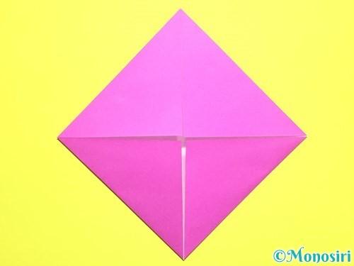 折り紙でバラの花の折り方手順4