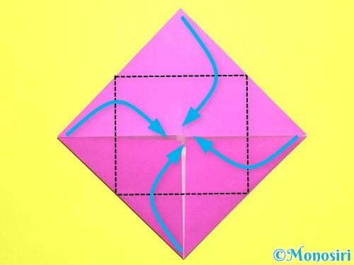 折り紙でバラの花の折り方手順5