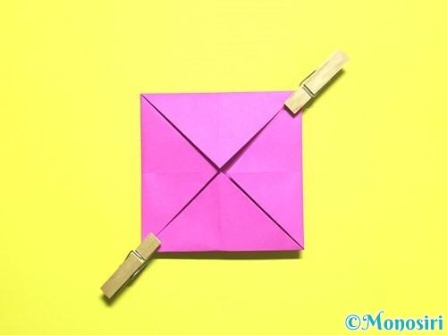 折り紙でバラの花の折り方手順6