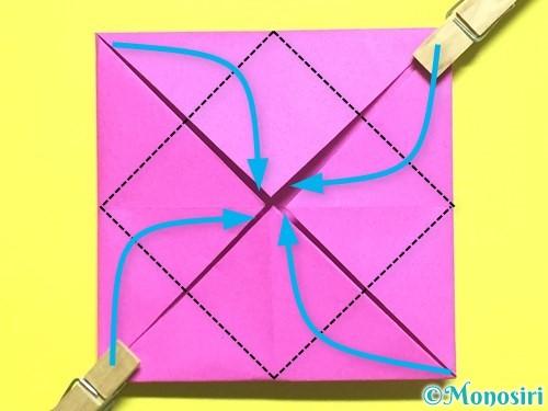 折り紙でバラの花の折り方手順7