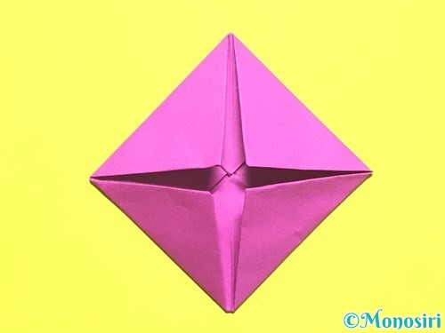折り紙でバラの花の折り方手順8