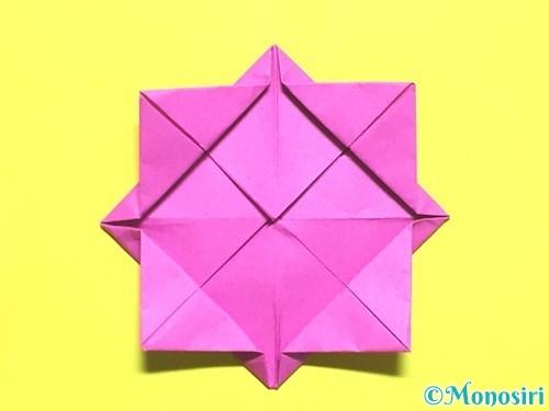 折り紙でバラの花の折り方手順10