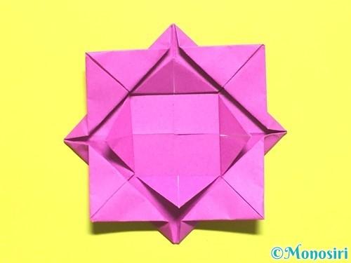 折り紙でバラの花の折り方手順12