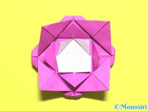 折り紙でバラの花の折り方手順16