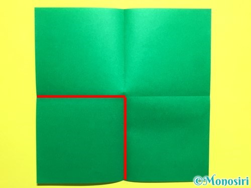 折り紙でバラの葉の折り方手順3