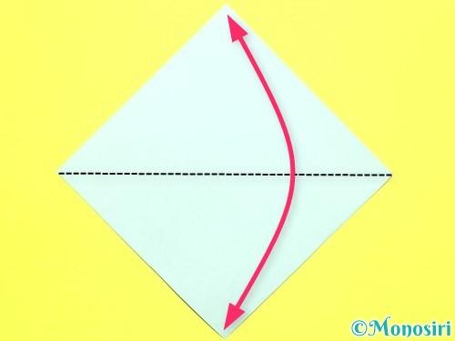 折り紙でバラの葉の折り方手順5