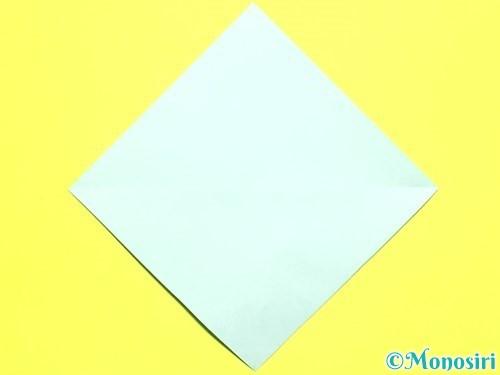 折り紙でバラの葉の折り方手順6