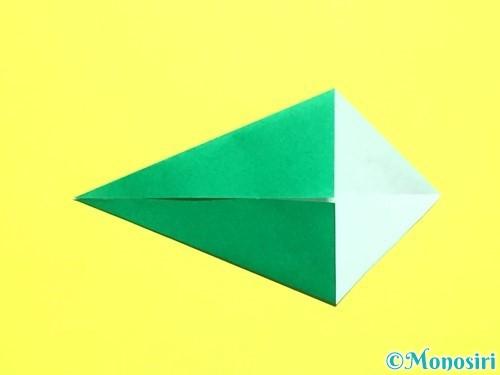 折り紙でバラの葉の折り方手順8