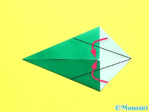 折り紙でバラの葉の折り方手順9