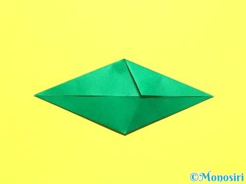 折り紙でバラの葉の折り方手順10