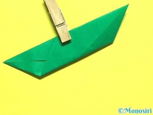 折り紙でバラの葉の折り方手順12