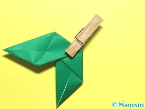 折り紙でバラの葉の折り方手順14