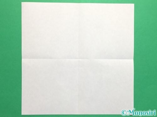 折り紙で立体的なバラの作り方手順2