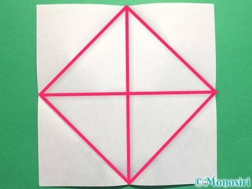 折り紙で立体的なバラの作り方手順5