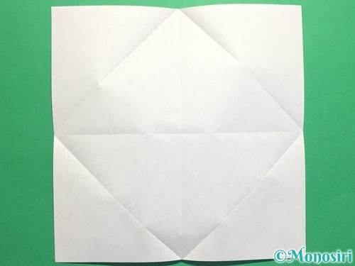 折り紙で立体的なバラの作り方手順4