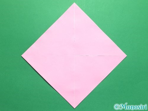 折り紙で立体的なバラの作り方手順6