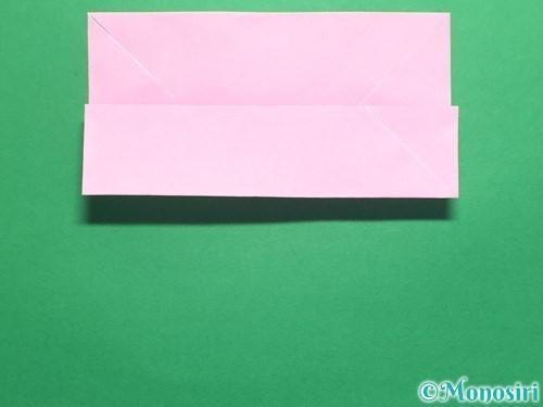 折り紙で立体的なバラの作り方手順10