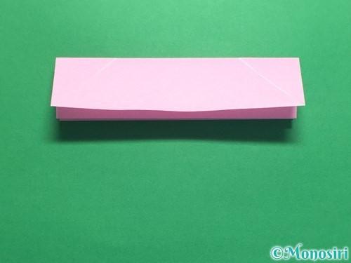 折り紙で立体的なバラの作り方手順13